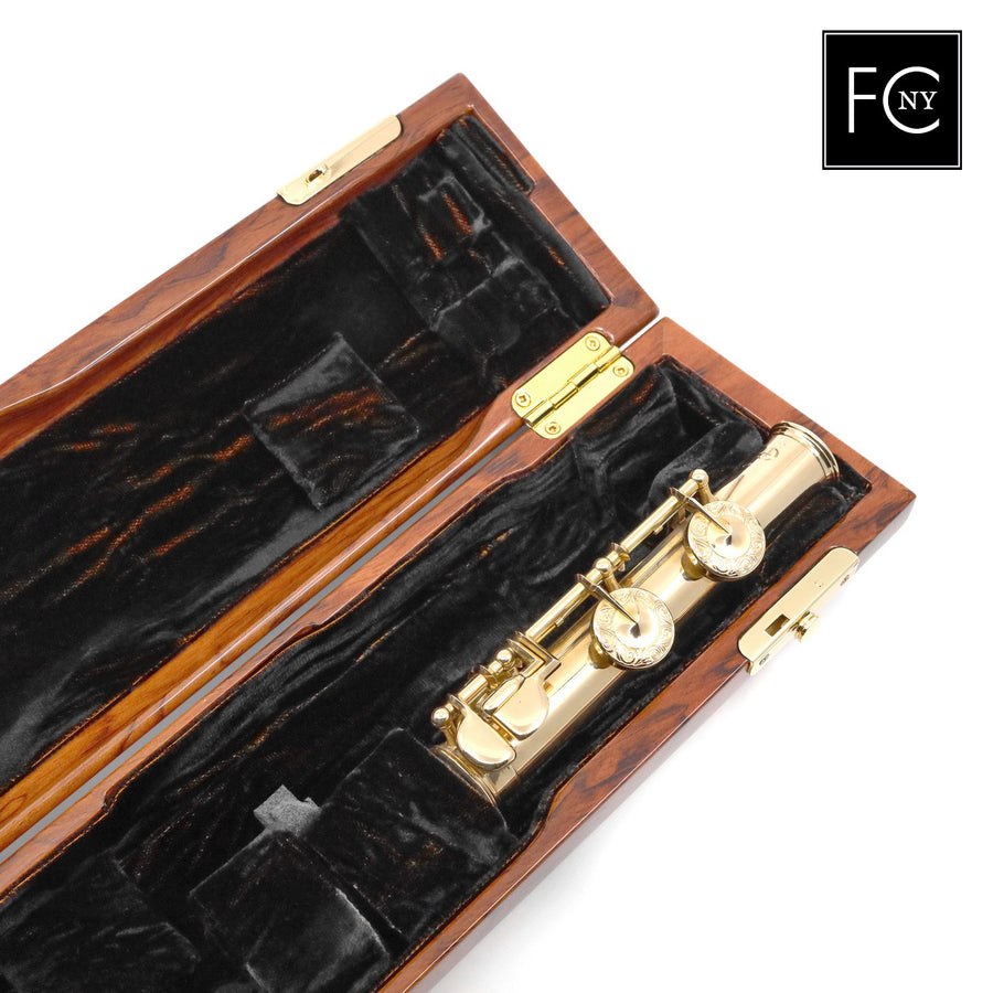 French Flute Case by Wiseman - Snake Wood Look