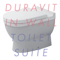 Duravit Starck 3 Back-to-Wall In-Wall Toilet Suite