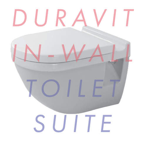 Duravit Starck 3 Wall-Mounted In-Wall Toilet Suite