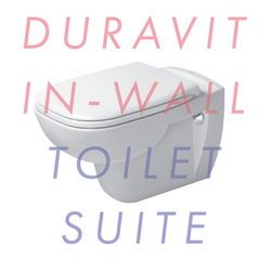 Duravit D-Code 545mm Wall-Mounted In-Wall Toilet Suite