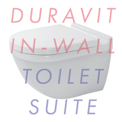 Duravit Starck 3 Wall-Hung Invisible In-Wall Toilet Suite