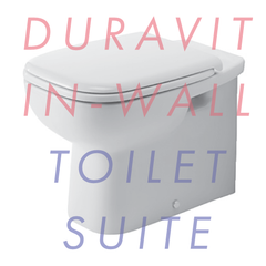 Duravit D-Code Floor Standing In-Wall Toilet Suite