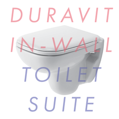 Duravit Dcode Compact Wall-Mounted In-Wall Toilet Suite