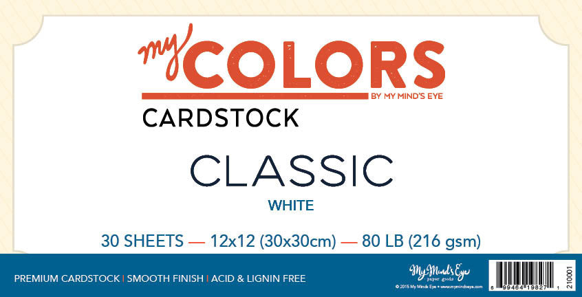 My Colors Classic White 30 Sheet Pack