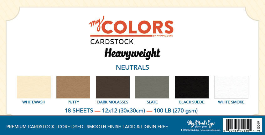 My Colors Heavyweight Neutral 18 Sheet Variety Pack