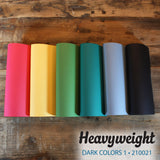 My Colors Heavyweight Dark Colors 1 18 Sheet Variety Pack