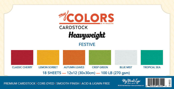 My Colors Heavyweight Festive 18 Sheet Variety Pack