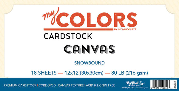 My Colors Canvas Snowbound 18 Sheet Pack