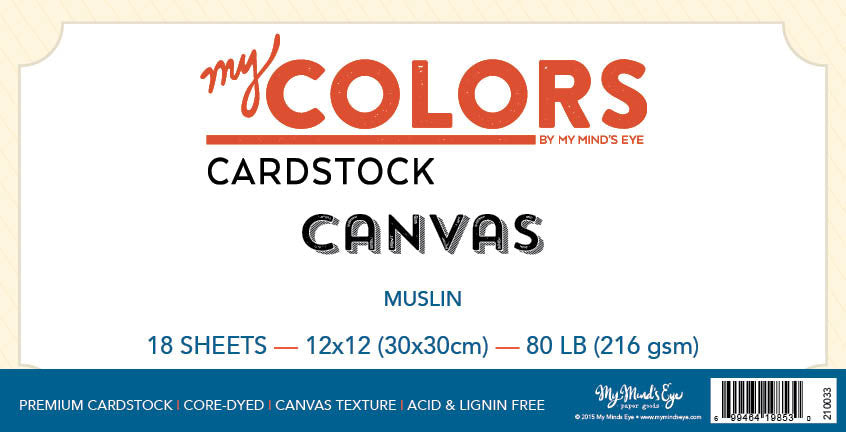 My Colors Canvas Muslin 18 Sheet Pack