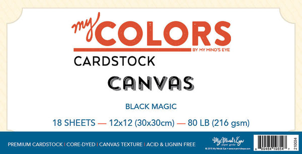 My Colors Canvas Black Magic 18 Sheet Pack