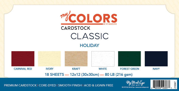 My Colors Classic Holiday 18 Sheet Variety Pack
