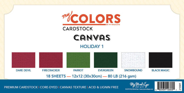 My Colors Canvas Holiday 1 - 18 Sheet Variety Pack