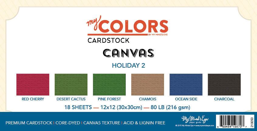My Colors Canvas Holiday 2 18 Sheet Variety Pack