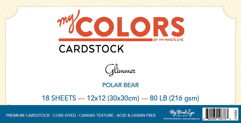 My Colors Glimmer Polar Bear 18 Sheet Pack