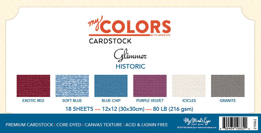 My Colors Glimmer Historic 18 Sheet Variety Pack