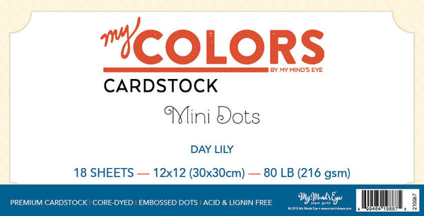 My Colors Mini Dot Day Lily 18 Sheet Variety Pack