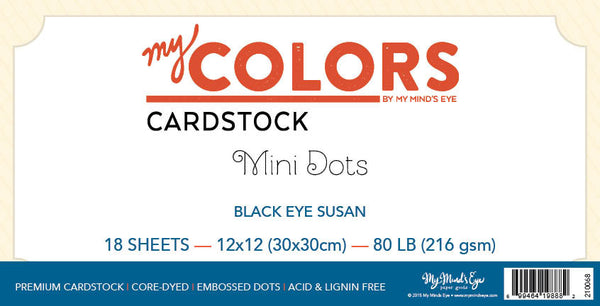 My Colors Mini Dots Black Eyed Susan 18 Sheet  Pack