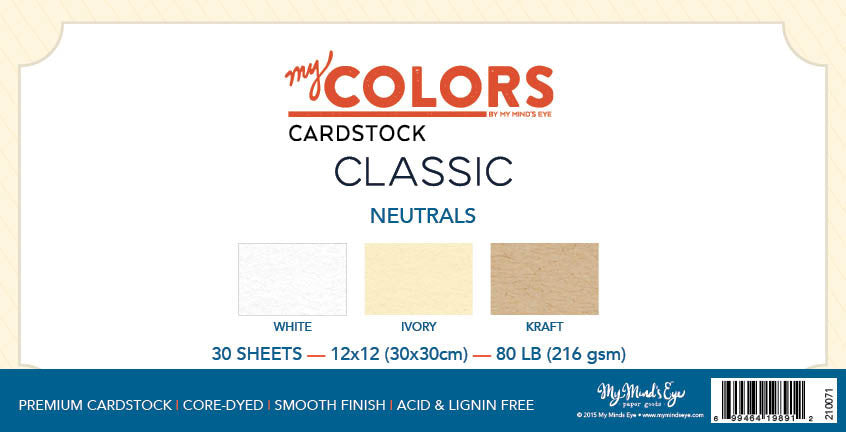 My Colors Classic Neutral 18 Sheet Variety Pack