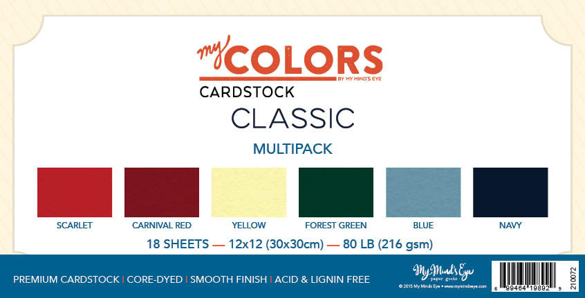 My Colors Classic Multipack 18 Sheet Variety Pack