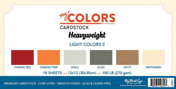 My Colors Heavyweight Light Colors 2 18 Sheet Variety Pack
