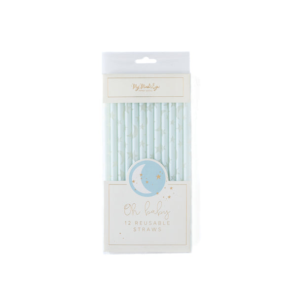 Baby Blue Reuseable Straws