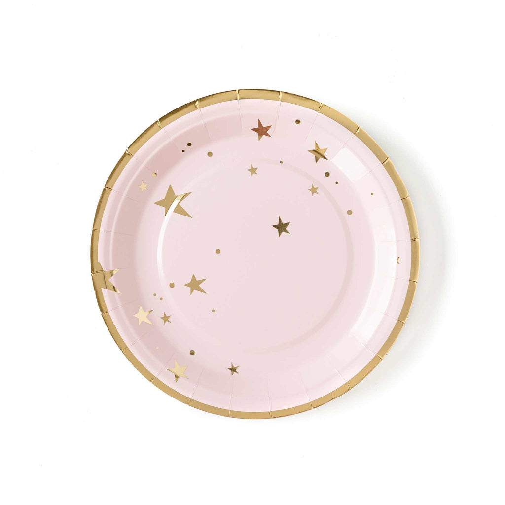 "Baby Pink Star 9"" Plates"