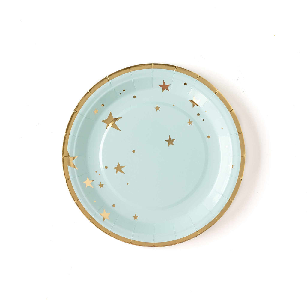 "Baby Blue Star 9"" Plates"