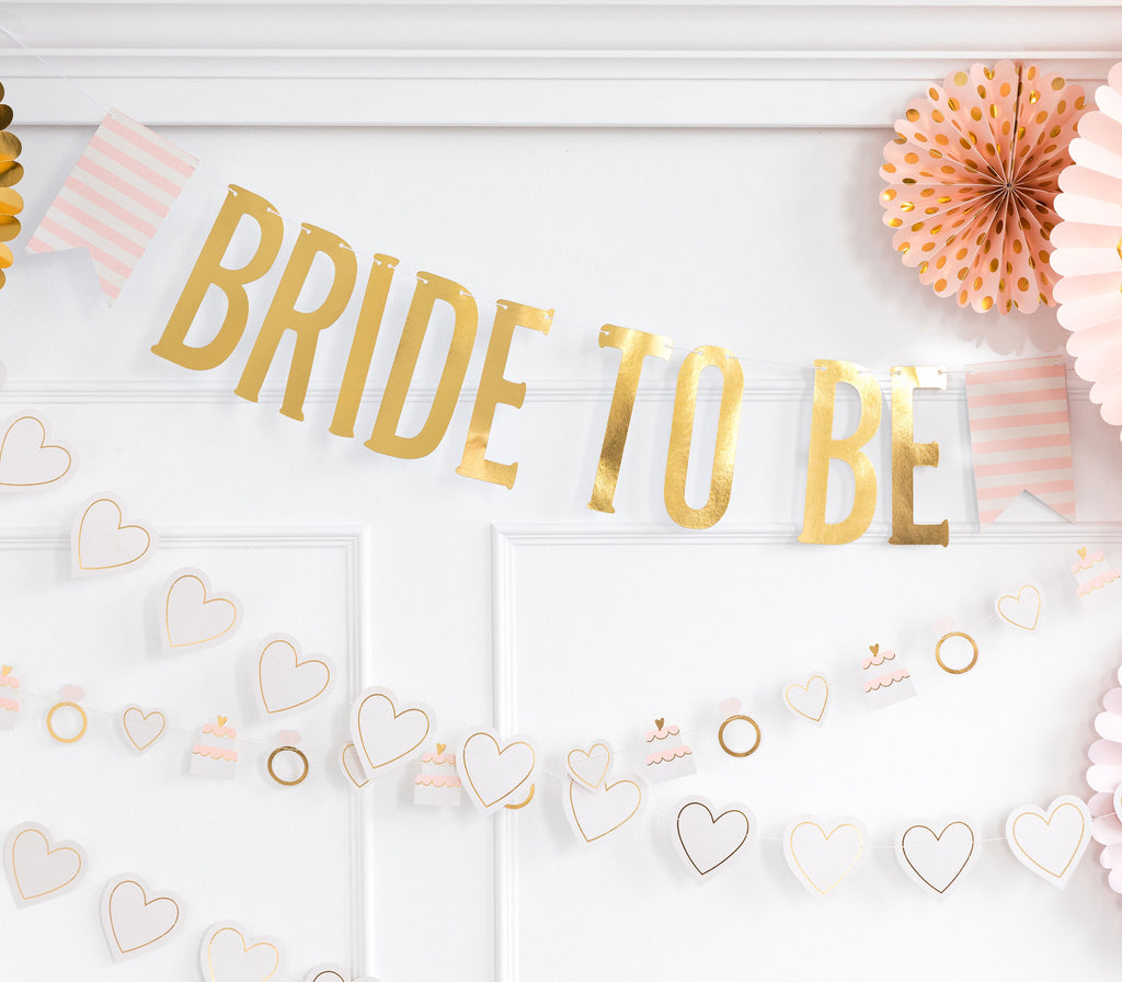 Bride to Be Banner Stylized