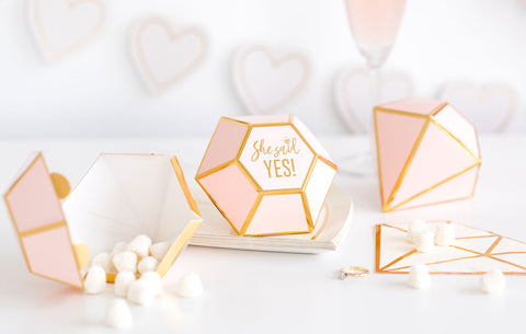 She Said Yes Diamond Favor Boxes