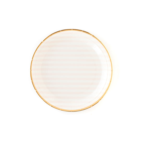 "Pink Striped 9"" Plate"