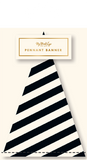 Black & White Striped Pennant Banner