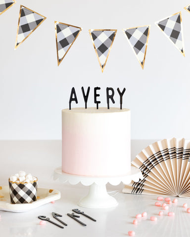 Cake By Courtney Letterboard Cake Toppers - Black