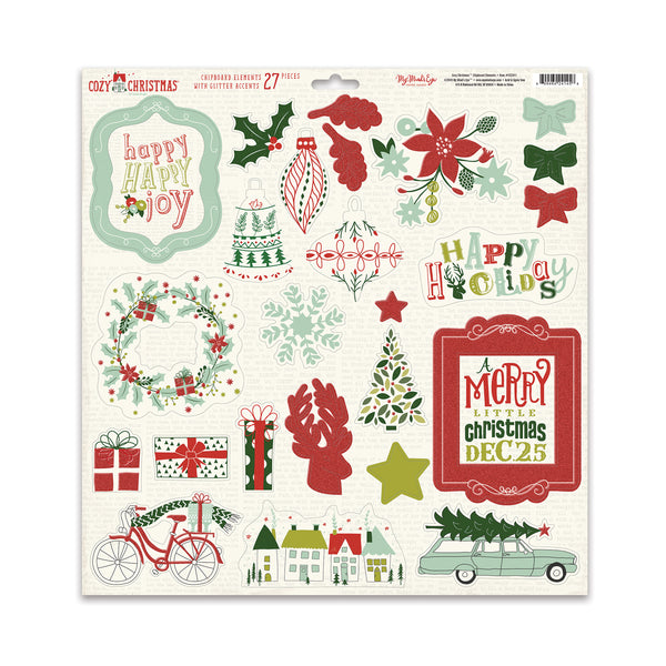 Cozy Christmas Chipboard Elements