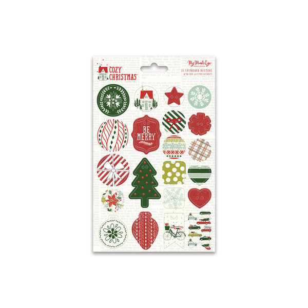 Cozy Christmas Chipboard Buttons