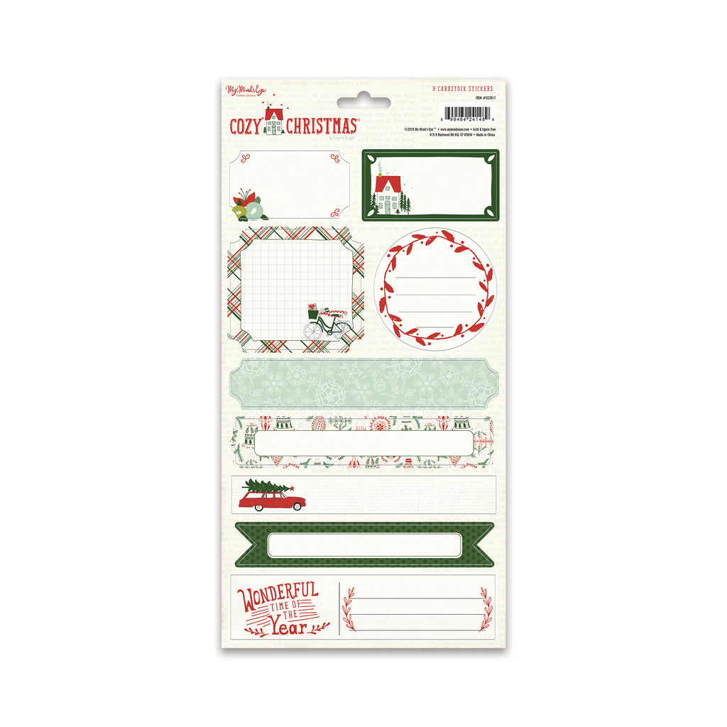 Cozy Christmas 6x12 Sticker Sheet