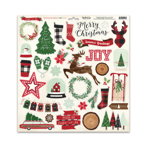 Comfort & Joy Chipboard Elements