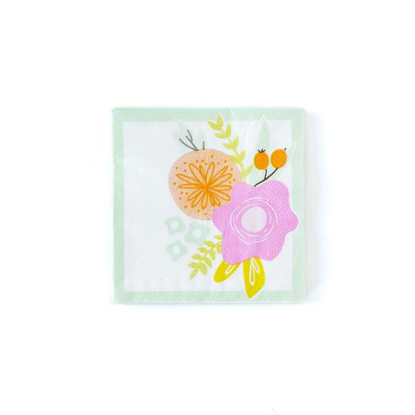 Spring Floral Cocktail Napkins