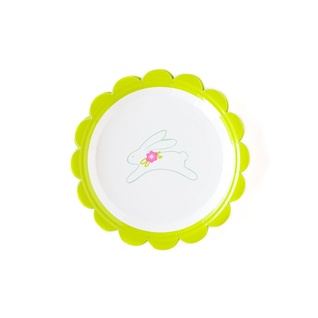 "Bunny 7"" Scalloped Plates"