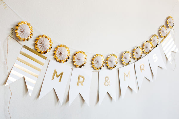 Fancy MR & MRS Banner