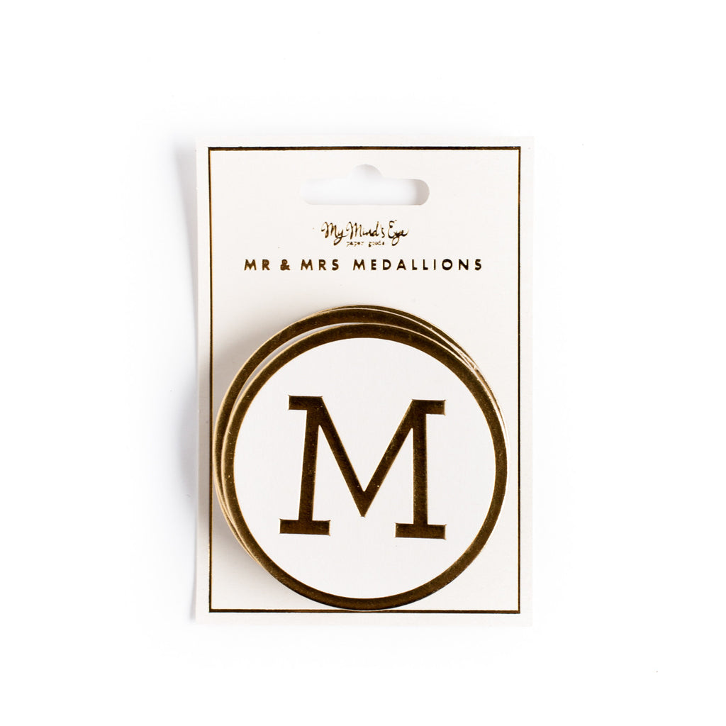 Fancy MR & MRS Medallions