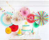 Hip Hip Hooray Party Fan Set
