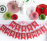 Holiday Merry Christmas Banner Mantel Display