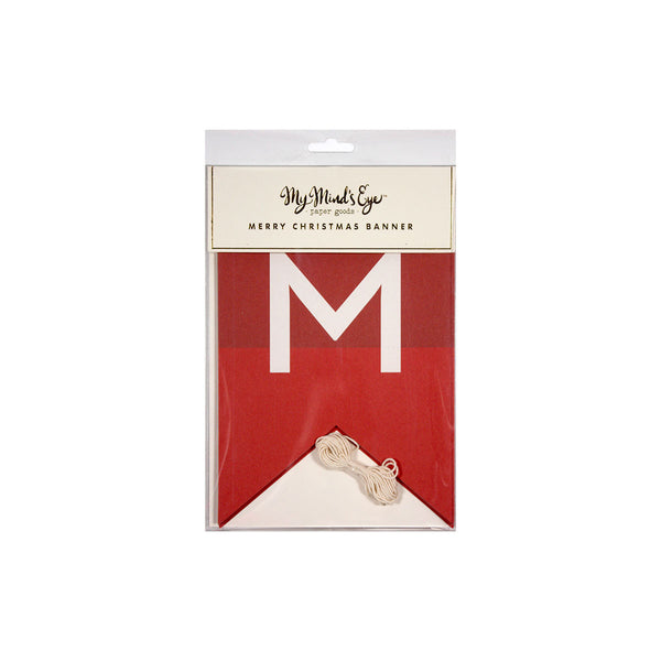 Holiday Merry Christmas Banner Packaging