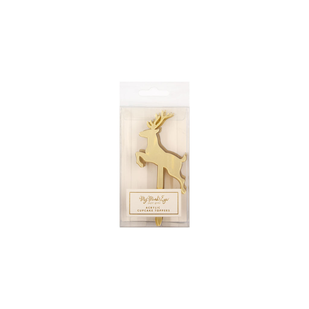 Holiday Deer Cupcake Toppers