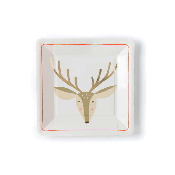 Holiday  Deer Plate
