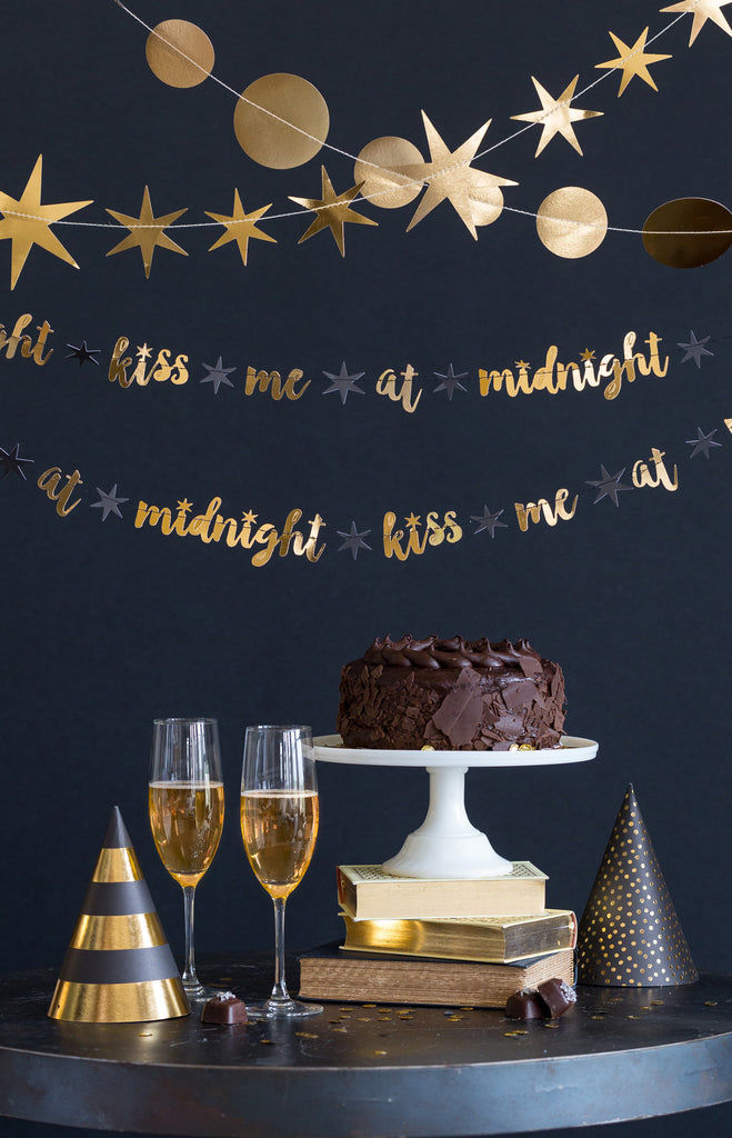 New Year's Eve Kiss Me at Midnight Banner