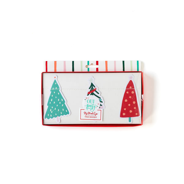 Oui Party Christmas Tree Banner