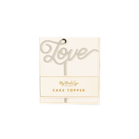 Basic Love Cake Topper - Silver