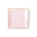 "Blush Scalloped 9"" Plates"