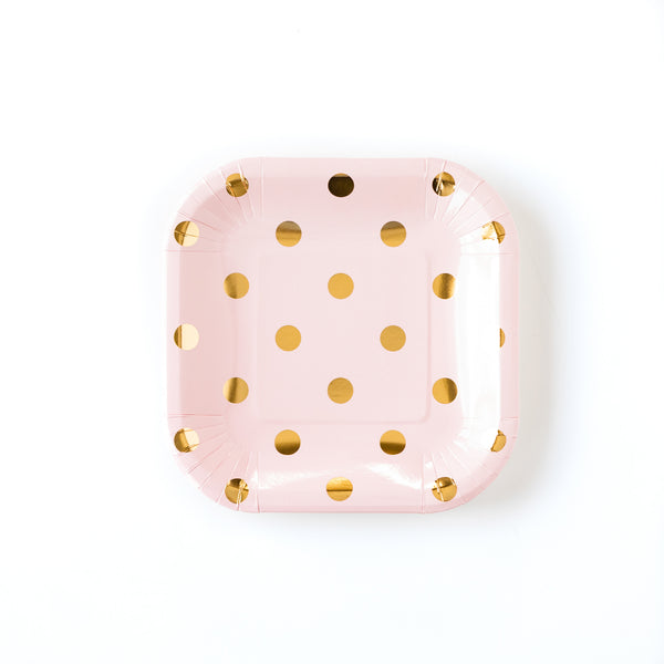 "Blush Polka Dot 7"" Plates"